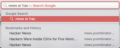 Searching by complex page title expression in address bar